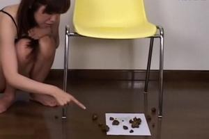 Asian scat on the floor from the chair