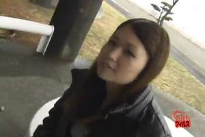 Japanese girl farts on the street